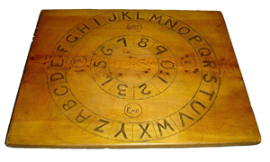 Ouija board made by Willie Ellis, c. 1933