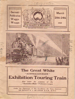 Great White Touring Train visit to Wagga