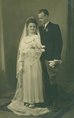 Thomas and Anitha Tajber on their wedding day