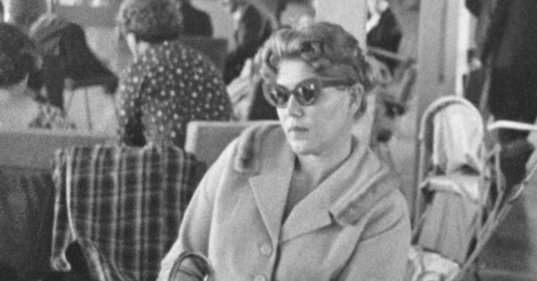 Lydia Janovska at Mascot Airport, Sydney, 1960. Part of Spy: Espionage in Australia on exhibition at the Museum of the Riverina in Wagga Wagga
