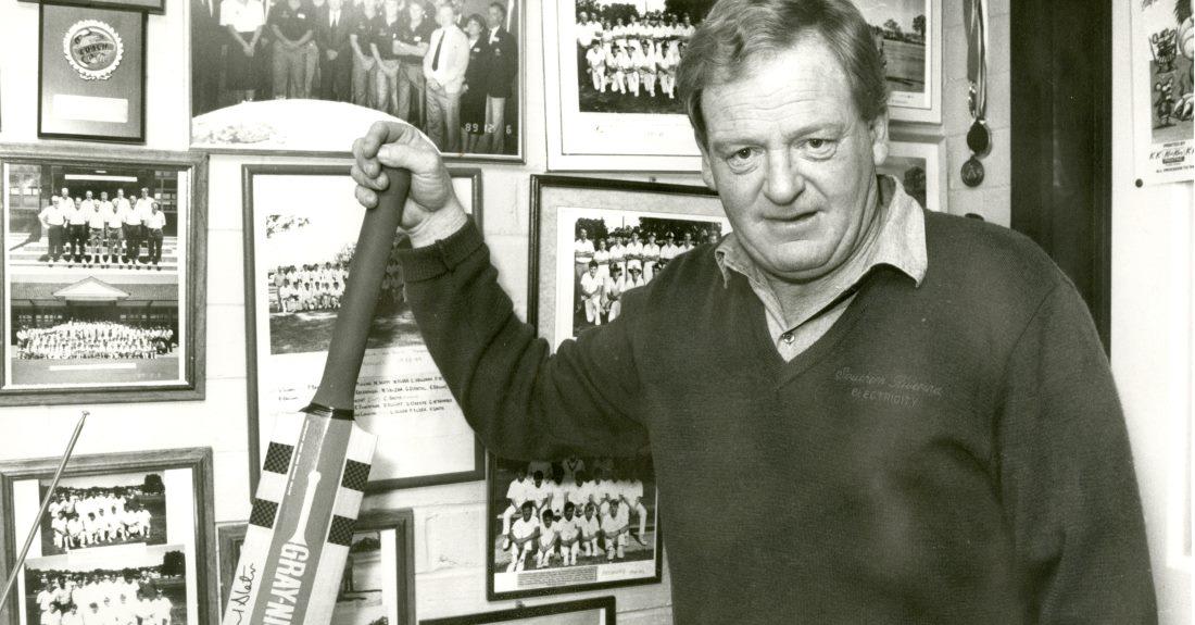 Warren 'Wazza' Smith with some of his cricket memorabilia