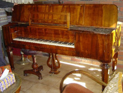 The Tajber's tafel klavier at home in Wagga Wagga